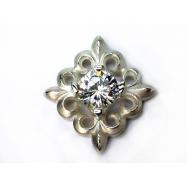 Lilie zyrkonia pendant