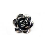 Rose large brosche black